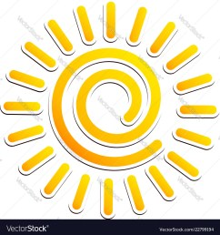 cool swirling sun clipart vector image [ 1000 x 1080 Pixel ]