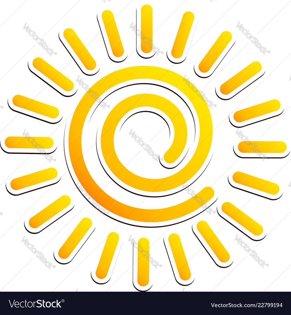 hight resolution of cool swirling sun clipart vector image