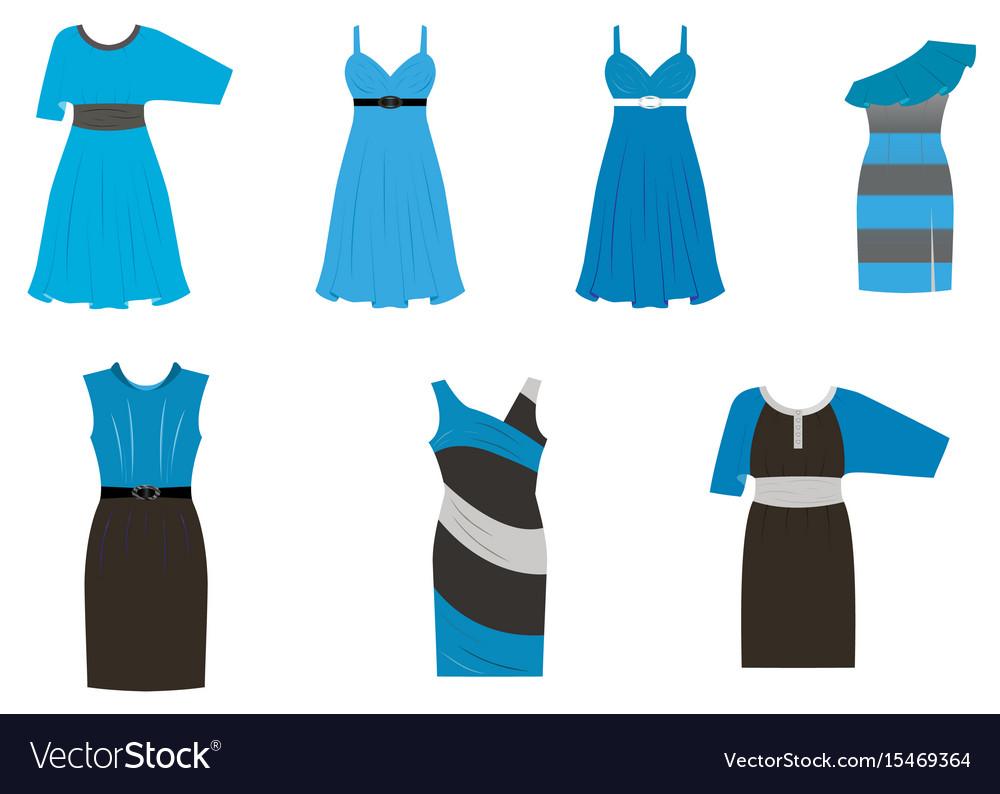set of dresses in