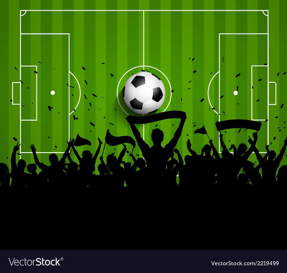 soccer football crowd on