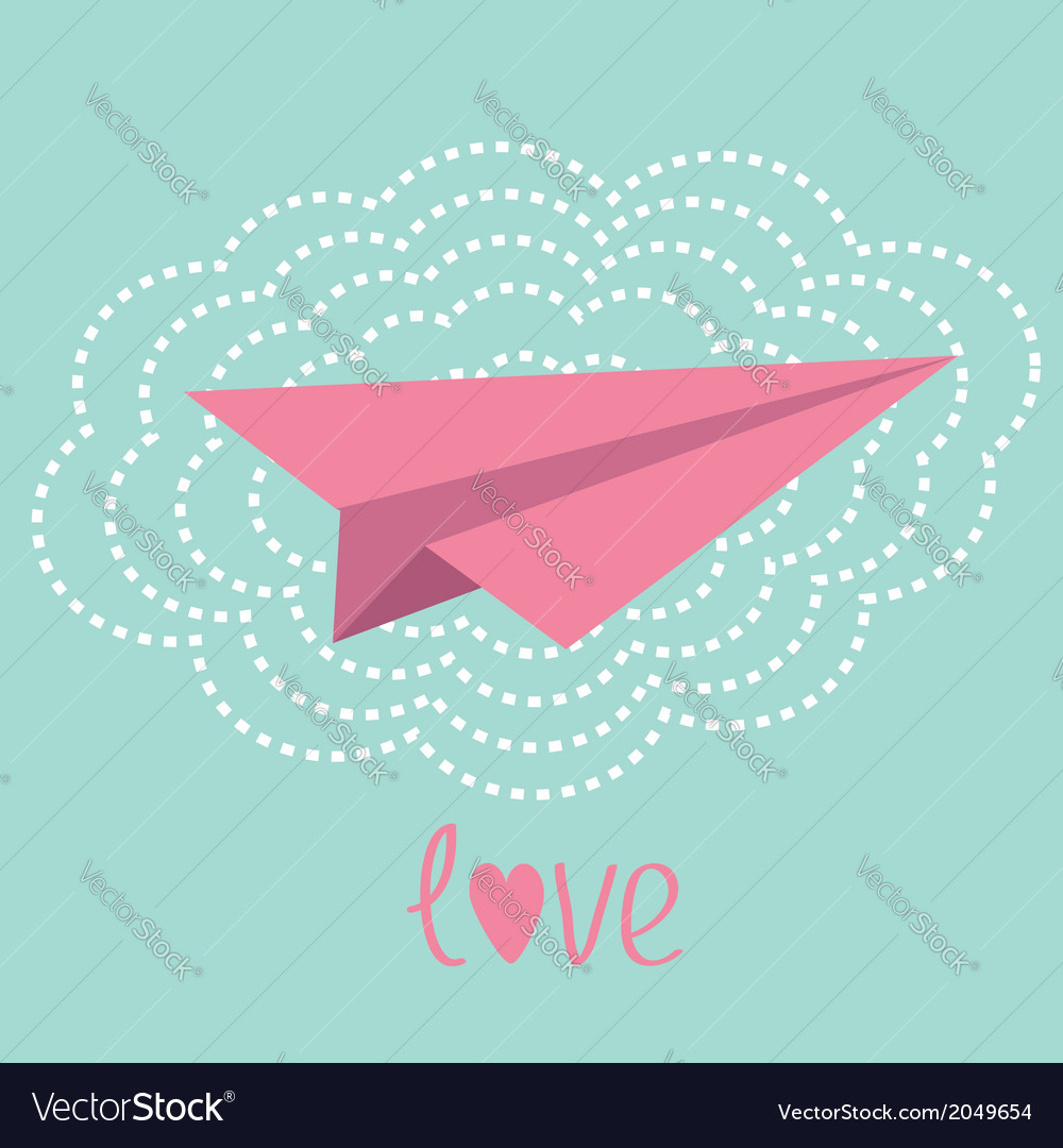 origami paper plane and