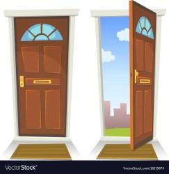 Open Door Cartoon