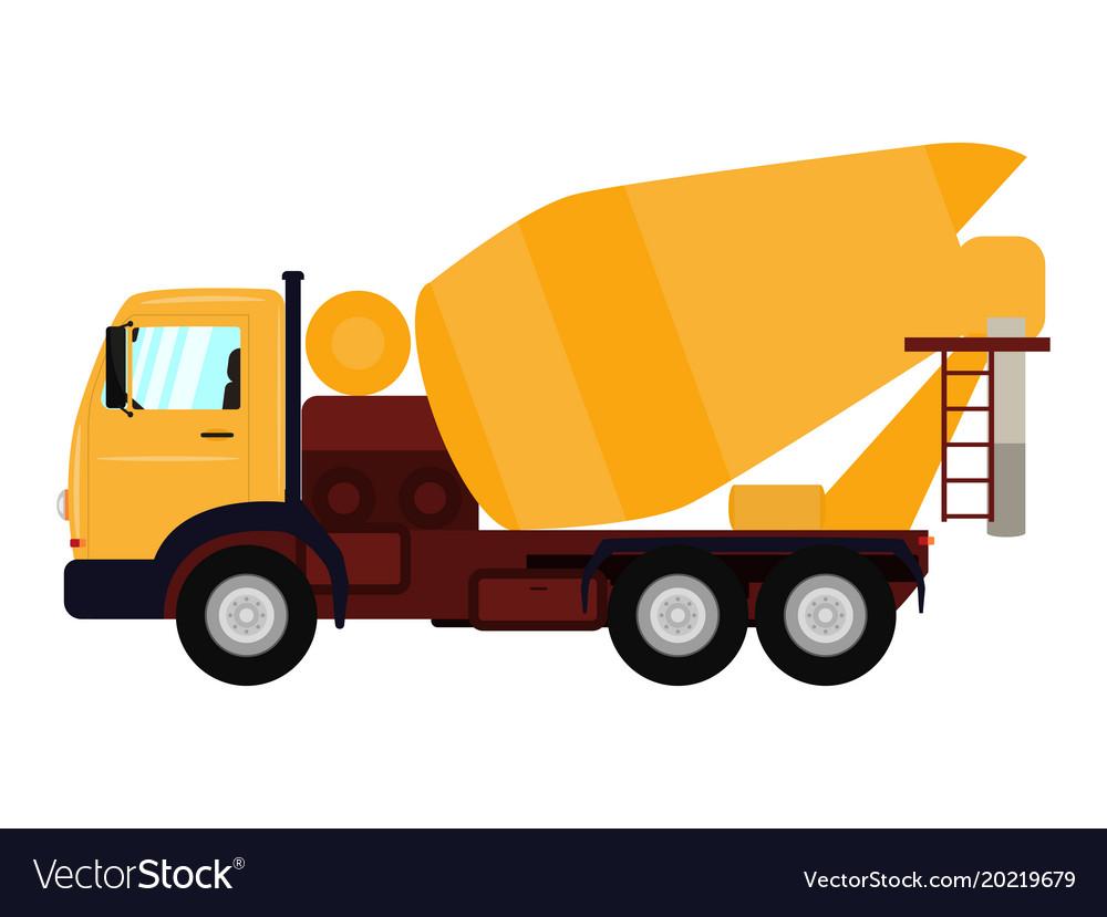 cartoon truck concrete mixer