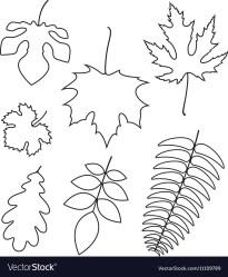 outline leaf vector royalty vectorstock