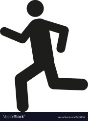The man running icon run symbol flat Royalty Free Vector