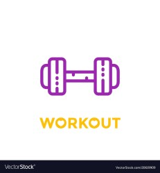Workout fitness icon on white Royalty Free Vector Image