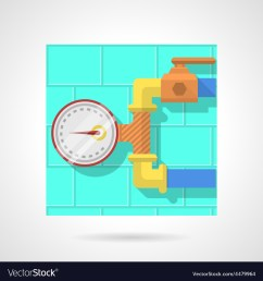 flat color icon for manometer vector image [ 1000 x 1080 Pixel ]