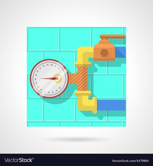 small resolution of flat color icon for manometer vector image