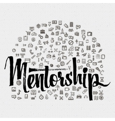 Word cloud mentorship Royalty Free Vector Image
