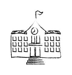 School building draw Royalty Free Vector Image