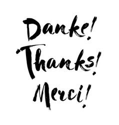 Thank you danke schoen german language balck Vector Image