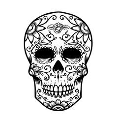Sugar Skull Drawing Vector Images Over 770