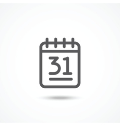 Calendar agenda for 31 days of month Royalty Free Vector