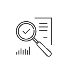 Thin line assessment auditing icon Royalty Free Vector Image
