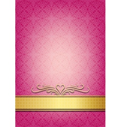 birthday invite pink vector images
