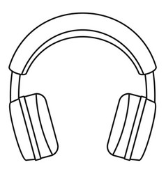 Wired headphones icon outline style Royalty Free Vector