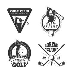 Set of golf club labels and emblems Royalty Free Vector