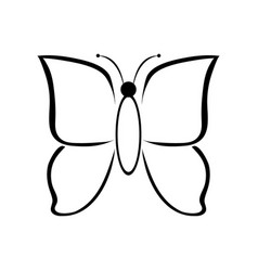 Butterfly Clipart Black And White Vector Images Over 170