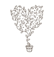 Light bulb with leaves within Royalty Free Vector Image