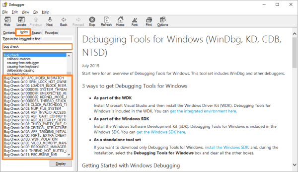 Файлы дампа - WinDbg - 8 - Windows Wally