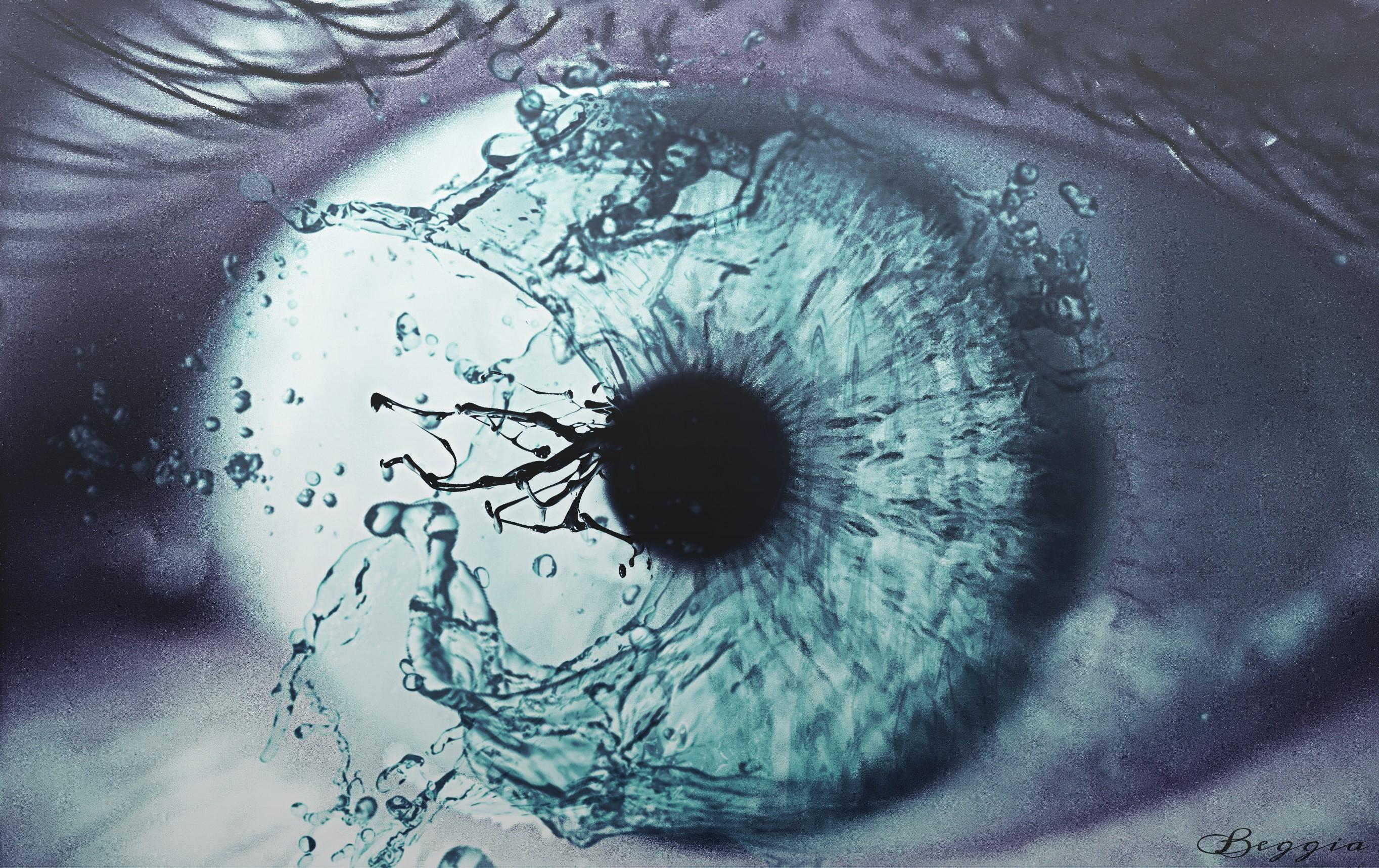 Good Anime Wallpaper By Beggia Water Splash Eye My Friend S Eye Good Morn