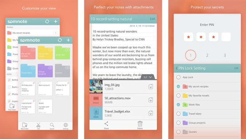 SomNote best note taking apps for android