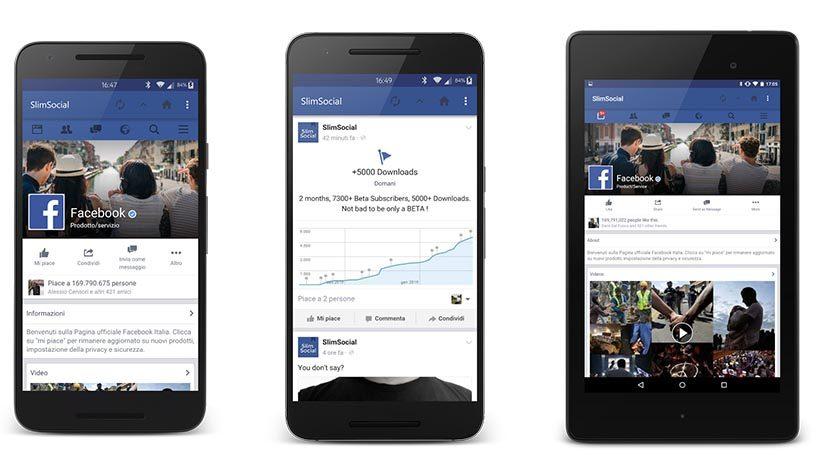slimsocial лучшие приложения для Facebook для Android