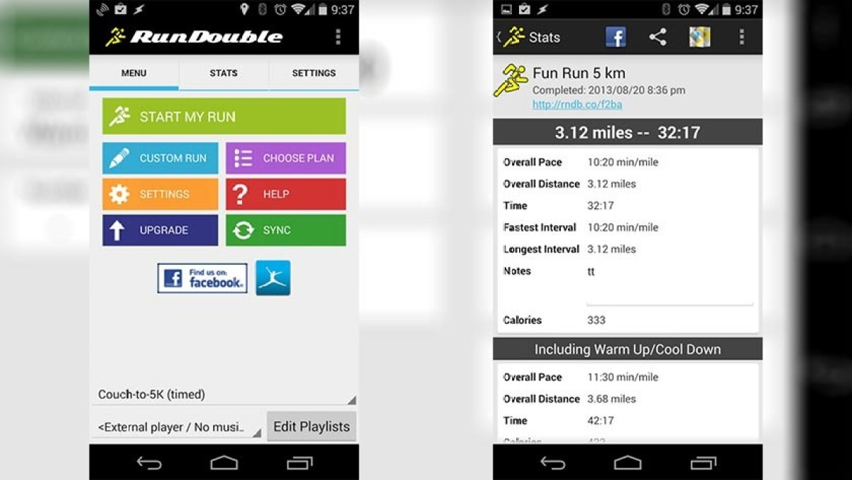 C25K Couch to 5K best android apps for running