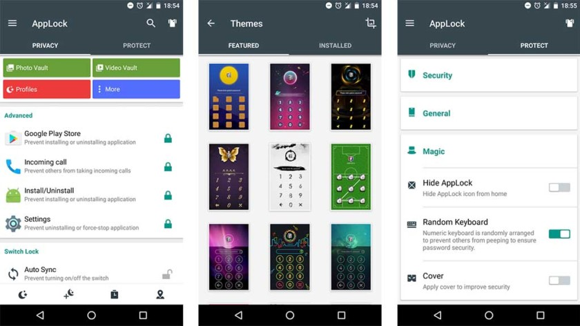 Applock by DoMobile Lab screenshot for the best security apps for android