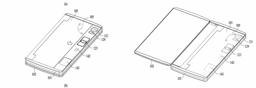 LG files patent for possible future folding smartphone