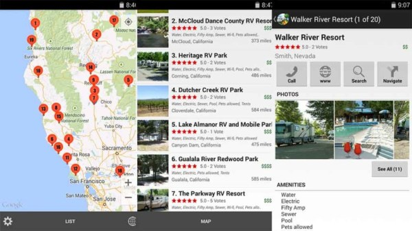 RV Parks and Campgrounds