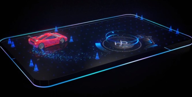red hydrogen one 4 view hologram display