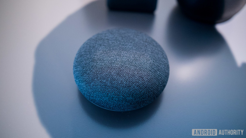 Google Home Mini and Max next to each other.