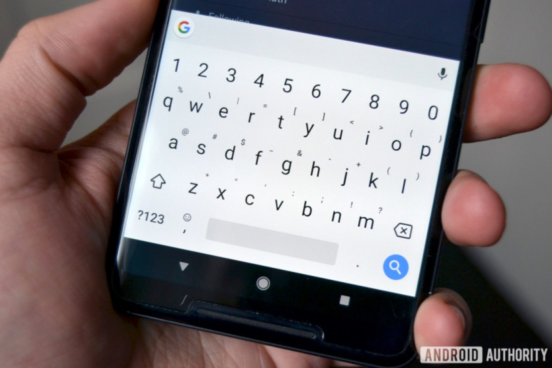 Gboard on the Pixel 2XL.
