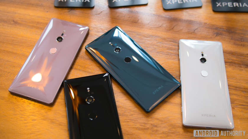 Sony Xperia XZ2 various colors