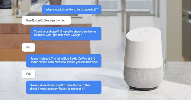 uber google assistant mwc 2018
