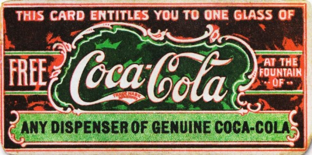 19th century Coca-Cola coupon