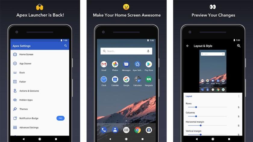 Apex Launcher является одним из лучших приложений для запуска Android