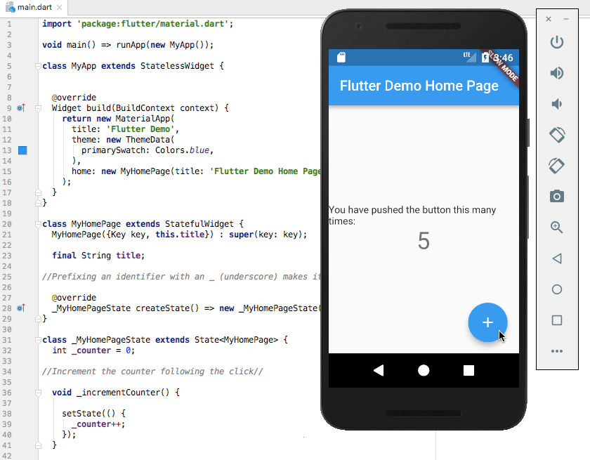 Google Flutter demo