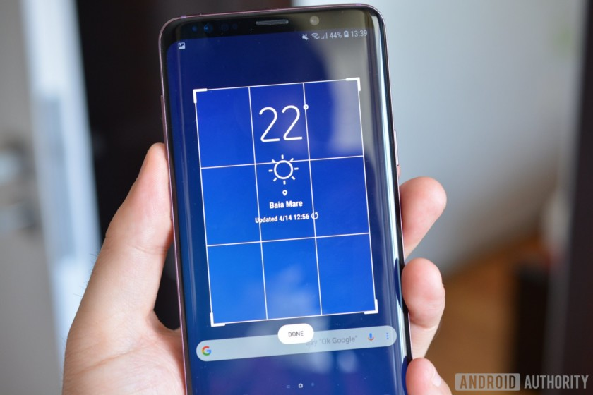 how to take screenshot galaxy s9 plus using smart select rectangle