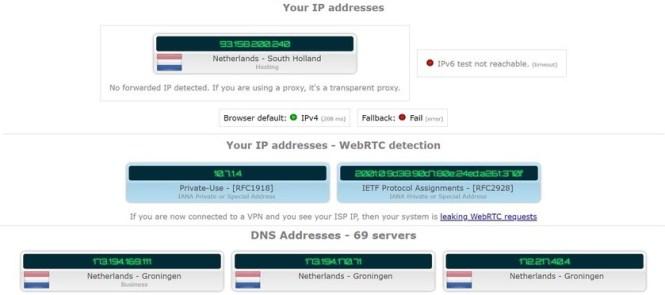 safervpn review ip leak test result