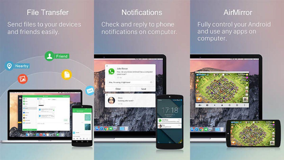 AirDroid - лучшие приложения для отправки текста на ПК