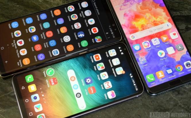 Huawei P20 Pro vs Note 8 vs LG V30 UI