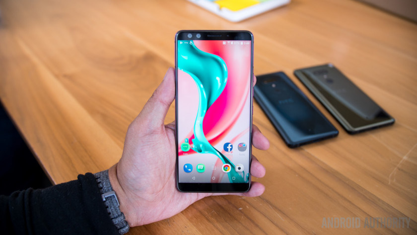 Photo of the HTC U12 Plus held in a hand - best HTC phones