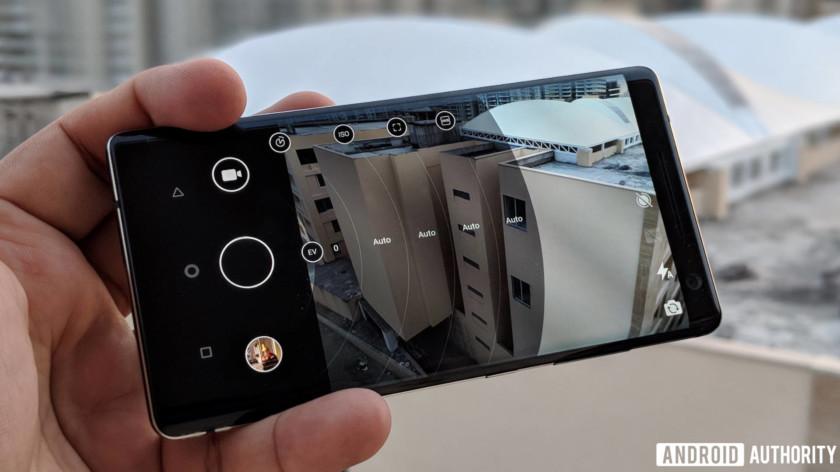 Nokia 8 Sirocco review - camera app