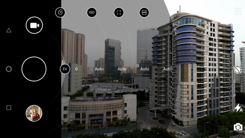 Nokia 8 Sirocco review - Camera app screenshot