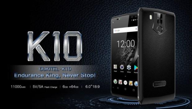 The Oukitel K10.