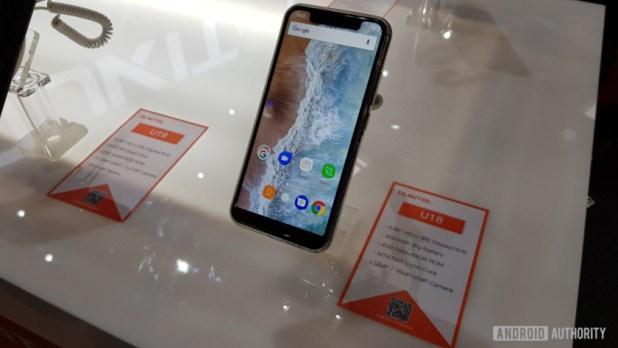 The Oukitel U18 smartphone.