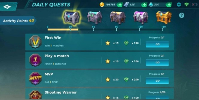 paladins strike daily quests