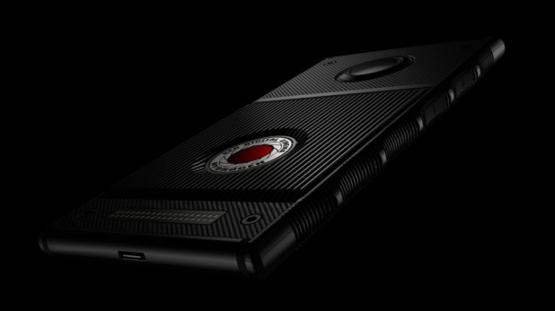 Red Hydrogen One with holographic display